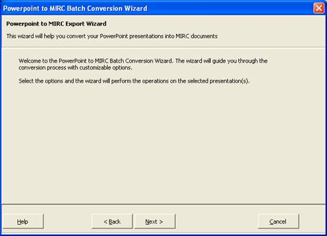 If An Article Is Created A MIRC Document Containing The Text Of Presentation And Screen Shots Slides Will Be Displayed
